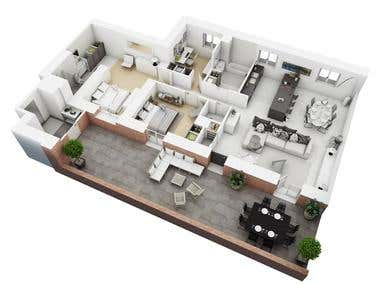 3D Floor Plans from plains