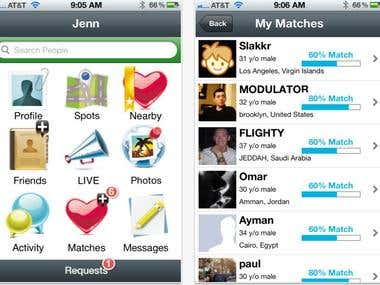 Location Based Dating application iphone