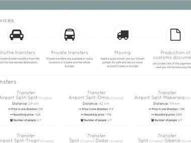 Campanaria transport website