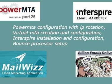 Power MTA and Interspire installation