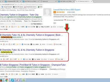 Top 1 Position Ranking in Singapore Search Engine