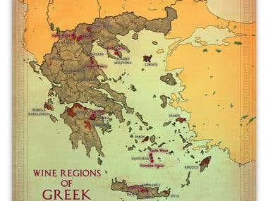 Wine Regions of Greek #Map
