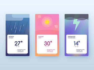 Ionic Weather Swipe Cards