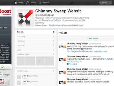 Twitter Page Design For Chimney Websites!