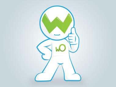 Mascota corporativa WO