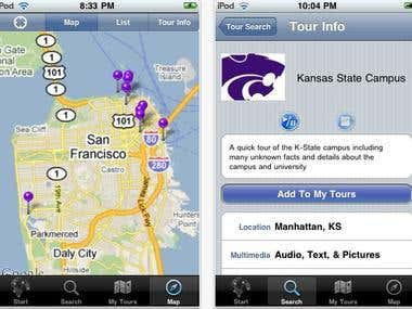 IPhone Video Tour application