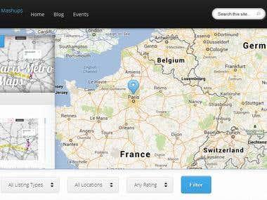 Blog Google Map Shopping Cart Wordpress
