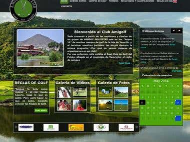 Golf Tournament Website