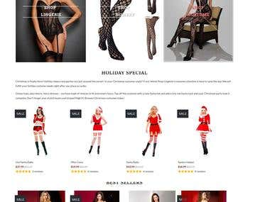 Shopify Lingerie store