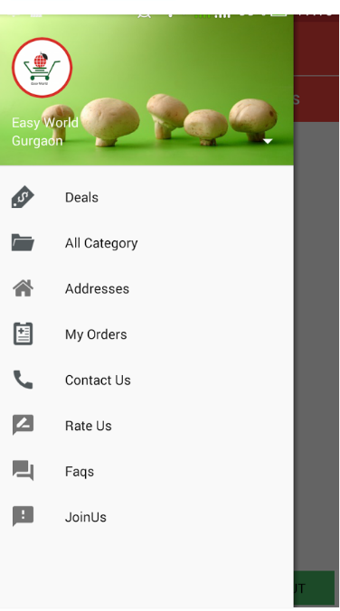 Easy world Grocer  Android Application