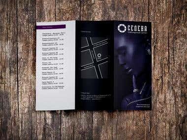 Brochure for jewellery shop