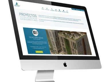 Diseño de paginas internas web inmobiliaria Acrecer