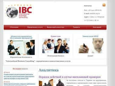 International Business Consulting website