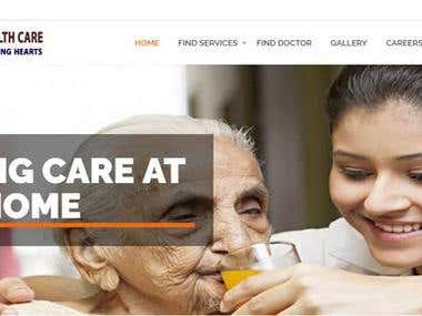 Home Health Care Services Website