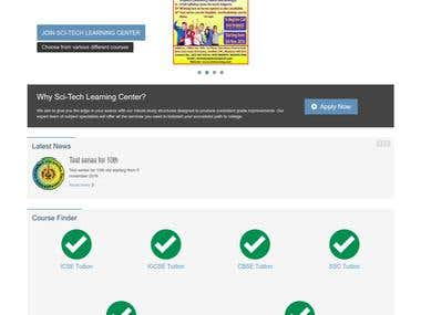 Website for Tuition classes