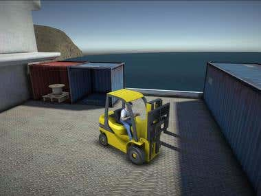 Forklift Simulator (Android, iOS & Web App)