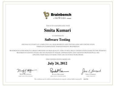 Brainbench Software Testing