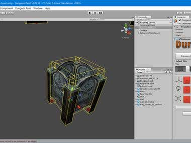 'Dungeon Paint' Level Design Tool (Unity editor extension)