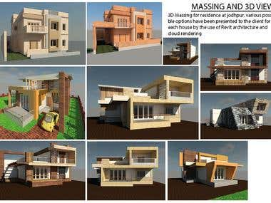 3D MODELING AND MASSING ELEVATION FACADE DESIGN