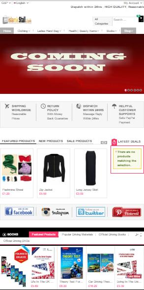 Magento base UK website