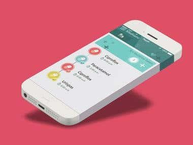 UI design for an app