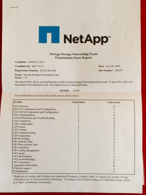 Netapp Certification Freelancer