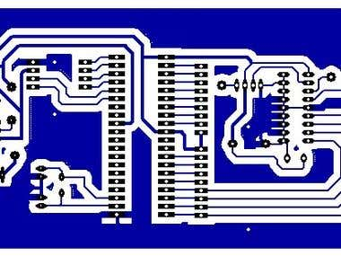PCB layout Gesture based ROBOT