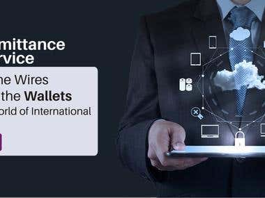 Website banner for Insurance Company - Remittance Service