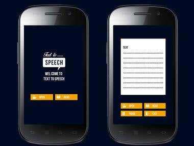 Android application for text-to-speech