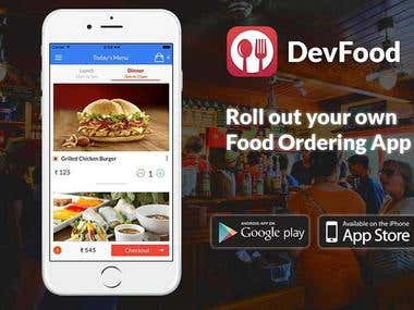 DevFood - USA & Canada - Food Ordering App