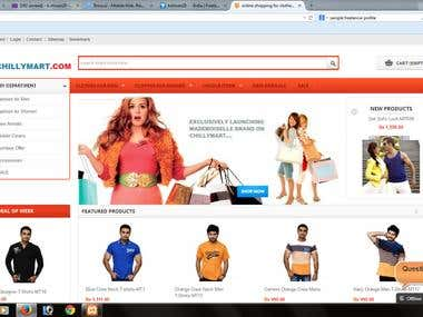 Ecommerce website developed and managed by myself