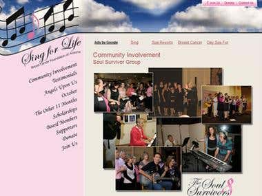 Sing4life Breast Cancer Foundation Website
