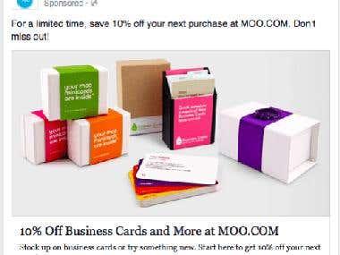 moo.com Facebook ad