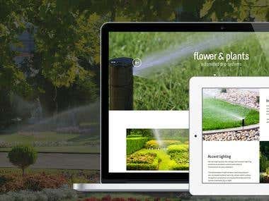 Website for Rain Maker Irrigation, Maryland