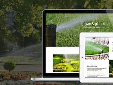 Website for Rain Maker Irrigation, Maryland