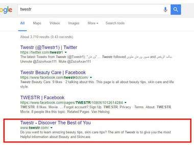 Google #1 page Ranking