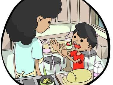 Illustration for a children's book