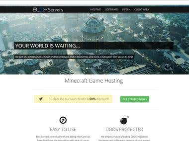 Blox Servers - Website and Billing System
