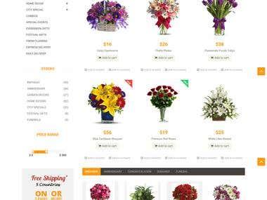 E Commerce - Flower Shop