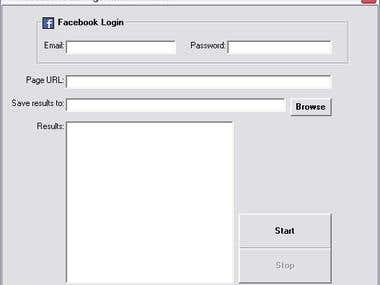 Facebook page email extractor