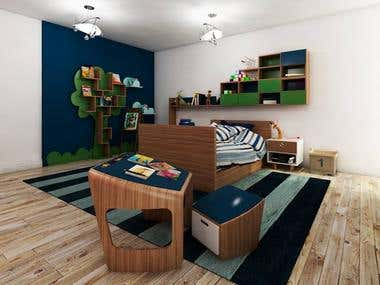 bedroom kids interior design