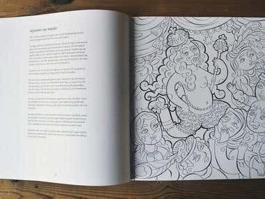 "Coloring book ""Tales of Hans Christian Andersen"""