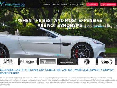 Neufango.com wordpress template