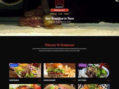 Buffet HTML-5 restuarent responsive Template