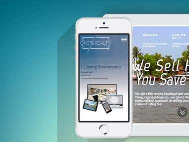 Website for one Percent Real Estate. Miami,Florida