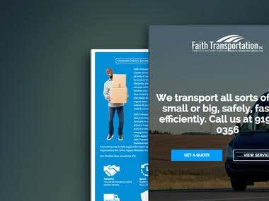 Faith Transport Website