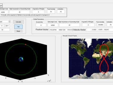 Orbital Mechanics Simulation with GUI (MATLAB)