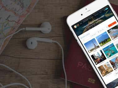 Travel Website. Virginia, USA