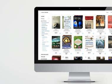 eBook Sales eCommerce Website