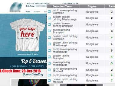 Top 5 for T-shirt Printing in Canada